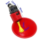 Automatic Quail Drinker Chicken Waterer Bowl With Yellow Nipple Farm poultry drinking water system(Red)