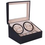 Automatic Mechanical Watch Winders PU Leather Storage Box Watch Display Jewelry Winder Box