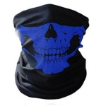 Skull Mask Bandana Cycling Helmet Neck Face Mask Half Face Sports Headband(Blue)