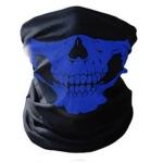Skull Mask Bandana Cycling Helmet Neck Face Mask Half Face Sports Headband(Blue)