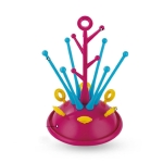 Baby Bottle Drying Rack Pacifier Nipple Drier Cute Tree Shape Cups Holders(Red)