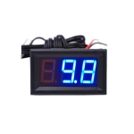 50~110C LED Temperature meter Detector Sensor Probe 12V Digital Thermometer Monitor Tester(Blue)