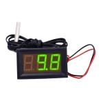 50~110C LED Temperature meter Detector Sensor Probe 12V Digital Thermometer Monitor Tester(Green)