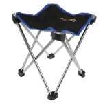 Portable Folding Chair Super Light Aluminum Alloy Fishing Camping Bench Garden Chairs(Black)