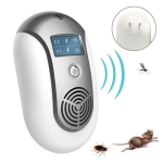 Electronic Pest Control Ultrasonic Pest Repeller US plug(Grey)