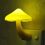 Mushroom Wall Socket Lamp Light-controlled Sensor Night Light Bedroom Home Decoration US Plug