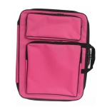 Children 8K Fashion Cute Double Shoulders Canvas Waterproof Drawing Bag(pink)