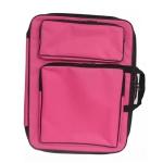 Children 8K Fashion Cute Double Shoulders Canvas Waterproof Drawing Bag(pink)