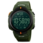 SKMEI 1301 Multifunction Waterproof Sports Bluetooth Smart Watch, Compatible with Android & iOS System (Army Green)