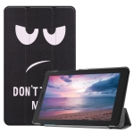 Big Eyes Pattern Colored Painted Horizontal Flip PU Leather Case for Lenovo Tab E8 TB-8304F, with Three-folding Holder