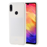 MERCURY GOOSPERY I JELLY Metal Series Shockproof Soft TPU Case for Xiaomi Redmi Note 7 (White)