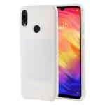 MERCURY GOOSPERY I JELLY Metal Series Shockproof Soft TPU Case for Xiaomi Redmi Note 7 (White)