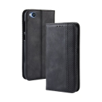 Magnetic Buckle Retro Texture Horizontal Flip Leather Case for Xiaomi Redmi Go, with Holder & Card Slots & Wallet (Black)