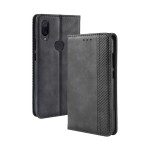 Magnetic Buckle Retro Texture Horizontal Flip Leather Case for Xiaomi Mi Play, with Holder & Card Slots & Wallet (Black)