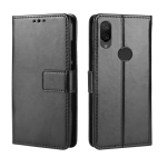 Crazy Horse Texture Horizontal Flip Leather Case for Xiaomi Mi Play, with Holder & Card Slots & Wallet & Lanyard (Black)