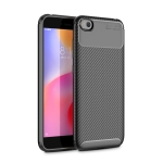 Beetle Series Carbon Fiber Texture Shockproof TPU Case for XiaoMi RedMi Go(Black)