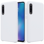 Solid Color Liquid Silicone Dropproof Protective Case for XiaoMi 9 (White)