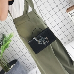 Embroidery Line PU Leather Shoulder Bag Ladies Handbag Messenger Bag (Color:Black Size:Star)