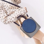 PU Single Shoulder Bag Ladies Handbag Messenger Bag (Blue)