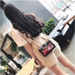 Graffiti Fashion Pattern PU Shoulder Bag Ladies Handbag Messenger Bag (Black)