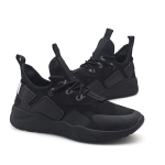 Round Head Lightweight and Comfortable Casual Shoes for Men (Color:Black Size:39)