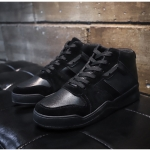 Trendy Lace-up High Casual Shoes for Men (Color:Black Size:39)