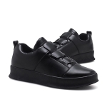 Breathable and Comfortable Trend PU Casual Shoes for Men (Color:Black Size:39)