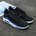 Mesh Breathable Outdoor Casual Sport Shoes for Men (Color:Black Blue Size:39)