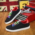Round Head Comfortable and Lightweight Outdoor Casual Shoes (Color:Black Size:39)