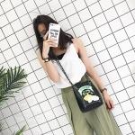 Embroidered Lemon Single Shoulder Bag Ladies Handbag Messenger Bag (Black)