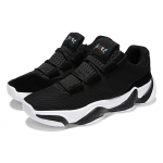 Flying Woven Cloth PU Non-slip Cushioning Sports Basketball Shoes for Men (Color:Black Size:40)