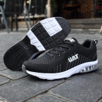 Casual Outdoor Flying Woven Cushion Shoes for Men (Color:Black Grey Size:39)