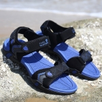 Summer Non-slip Beach Sandals Outdoor Casual Shoes for Men (Color:Blue Size:37)
