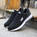 Fashion Flying Woven Cushion Shoes Casual Shoes for Men (Color:Black Size:39)