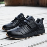 Middle and Old Aged Waterproof Non-Slip Cold Casual Cotton Shoes (Color:Black Size:39)