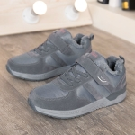 Middle And Old Aged Soft and Comfortable Non-slip Shockproof Walking Shoes (Color:Grey Size:39)