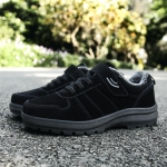 Middle and Old Aged Comfortable Non-slip Cold Cotton Casual Shoes (Color:Black Size:39)