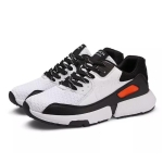 Casual Fashion Fly Weave Breathable Light Sports Running Shoes (Color:Black White Size:40)
