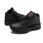 Youth Trend Roud Head Lace-up Comfortable Casual Basketball Shoes for Men (Color:Black Size:39)