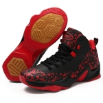 Mesh Comfortable and Breathable Fashion Basketball Shoes for Men (Color:Black Red Size:39)