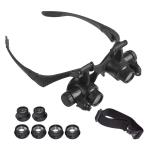 YWXLight Headband Eyewear Magnifier Loupe Jeweler Magnifying Glasses Tool Set with LED Light