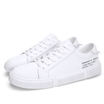 Spring and Autumn Lace Round Head Casual Shoes for Men (Color:White Size:43)