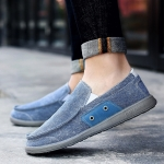Outdoor Leisure Sports Low Shoes Lazy Foot Shoes for Men (Color:Blue Size:44)