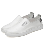 Spring and Autumn Round Head Breathable Casual Shoes for Men (Color:White Size:45)