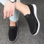 Outdoor Leisure Sport Low-top Canvas Shoes for Men (Color:Black Size:41)