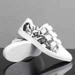 Outdoor Low-top Wear Resistant Casual Sport Trend Shoes for Men (Color:White Black Size:43)