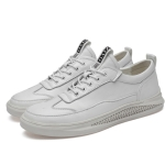Fashion Personality Round Head Breathable Casual Shoes for Men (Color:White Size:45)