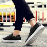 Outdoor Sport Low-top Solid Color Casual Couple Shoes (Color:Black Size:41)