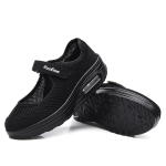 Cushioning Breathable Mesh Lightweight Walking Shoes for Woman (Color:Black Size:35)