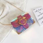 Laser Color Chain-strap Single Shoulder Bag Ladies Handbag Messenger Bag (Pink)